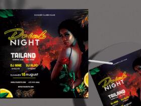 Free Drink Night Club PSD Flyer Template