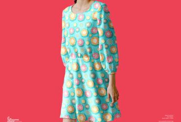 Free Female Dress Mockup PSD Template