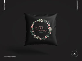 Free Floating Pillow Mockup PSD Template