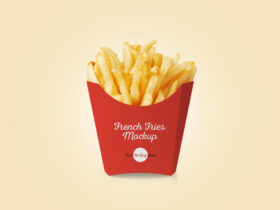 Free French Fries Packaging Mockup PSD Template