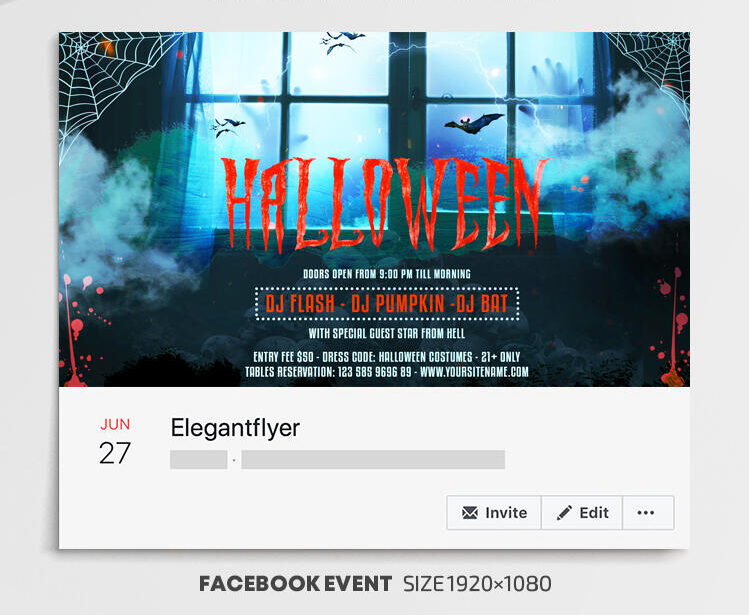 Free Halloween Facebook Cover PSD Template