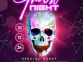 Free Halloween Ghost Theme Party Flyer PSD Template