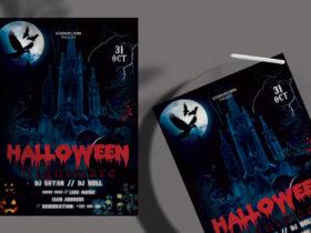 Free Halloween Nightmare Flyer PSD Template