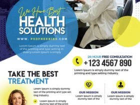 Free Healthcare and Pharmacy Flyer PSD Template