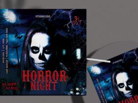 Free Horror Night Flyer PSD Template