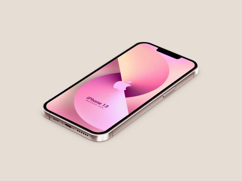 Free Isometric 3D iPhone 13 Mockup