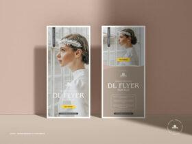Free Modern Branding Dl Flyer Mockup PSD Template