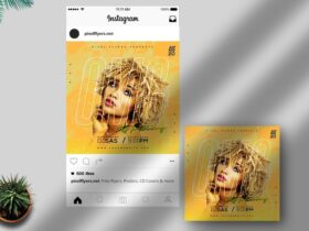 Free Omg It's Friday Instagram Post PSD Template