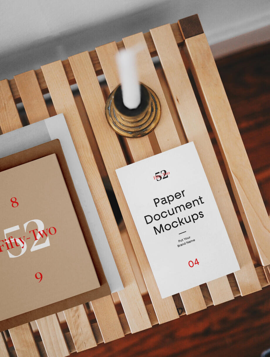Free Paper Document Mockups PSD Template
