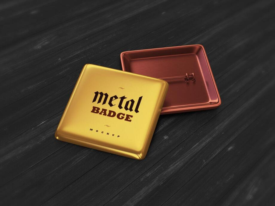 Free Pin Metal Badge Mockup PSD Template