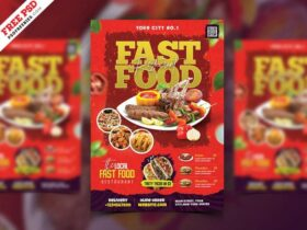 Free Restaurant Business Promotional Flyer PSD Template
