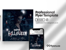 Free Scary Halloween Party PSD Flyer Template
