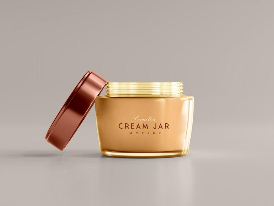Free Skincare Cream Jar Mockup PSD Template