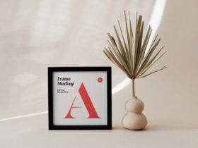 Free Small Poster Frame Mockup PSD Template