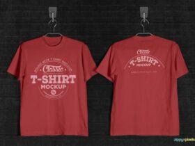 Free Vintage T-Shirt Mockup PSD Template