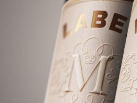 Free Wine Bottle Label Mockup PSD Template