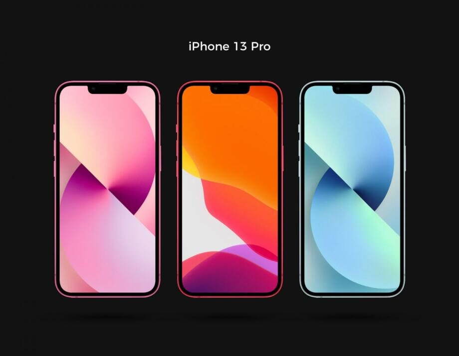 Free iPhone 13 Pro Mockup PSD Template